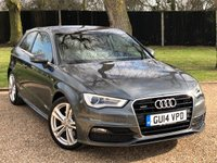 USED 2014 14 AUDI A3 2.0 TDI QUATTRO S LINE 3d AUTO 182 BHP 1 OWNER,SAT NAV,LEATHER,HEATED SEATS