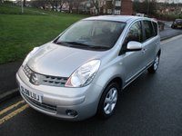 2008 NISSAN NOTE 1.4 ACENTA 5d 88 BHP £3499.00