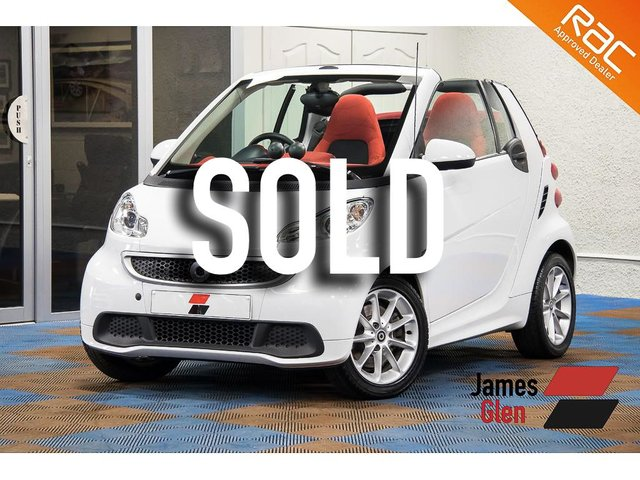 USED 2013 63 SMART FORTWO CABRIO 0.8 PASSION CDI 2d AUTO 54 BHP Full Main Dealer Service History