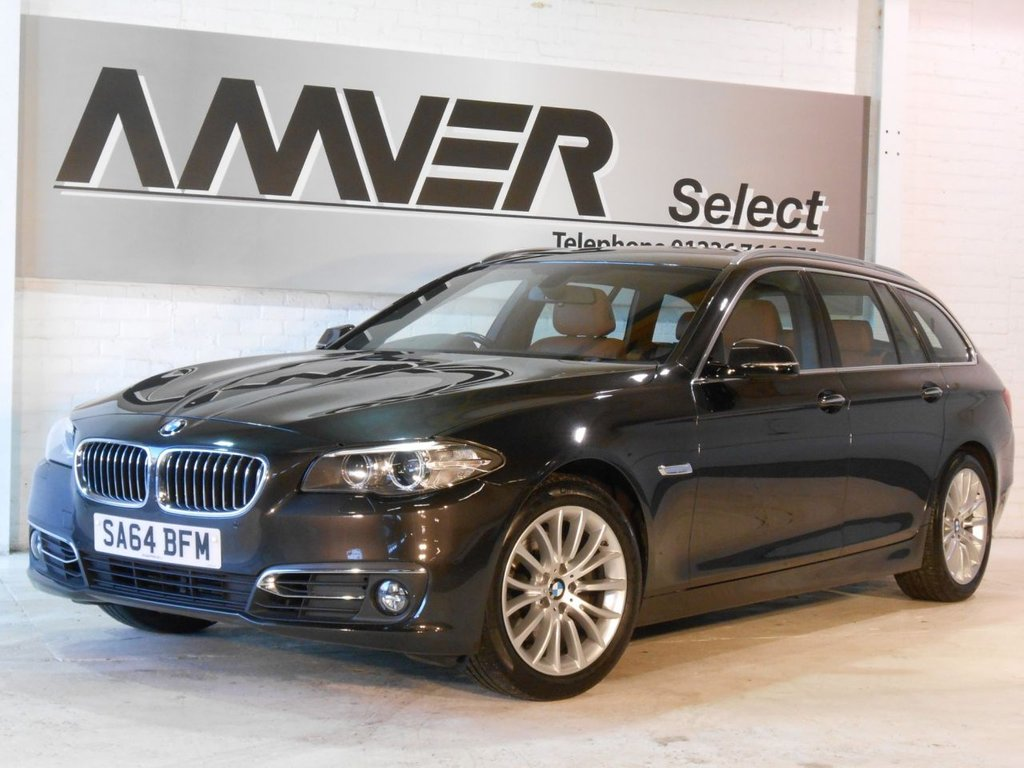 USED 2014 64 BMW 5 SERIES 2.0 520D LUXURY TOURING 5d AUTO 188 BHP