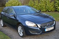 "USED 2013 13 VOLVO V60 1.6 D2 SE 5d 113 BHP 1 FORMER FSH BLUETOOTH CRUISE 17"" ALLOYS REAR PARK AIDS TAX £30"