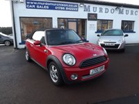 USED 2009 59 MINI CONVERTIBLE 1.6 COOPER 2d 120 BHP