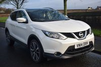 USED 2014 14 NISSAN QASHQAI 1.5 DCI TEKNA 5d 108 BHP SERVICE HISTORY, PAN ROOF, SAT NAV, HEATED LEATHER SEATS, BLUETOOTH, MANY MORE FEATURES