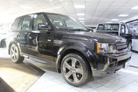 USED 2013 13 LAND ROVER RANGE ROVER SPORT 3.0 SDV6 HSE BLACK AUTO 255 BHP FLRSH DUAL VIEW NAV TIMED CLMT