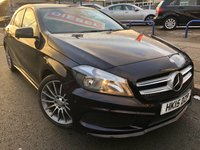 USED 2015 15 MERCEDES-BENZ A CLASS 1.5 A180 CDI BLUEEFFICIENCY AMG SPORT 5d 109 BHP 1 OWNER + FSH + REAR PRIVACY GLASS + UPGRADED ALLOYS