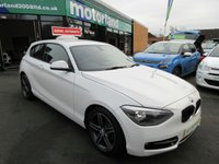 USED 2012 62 BMW 1 SERIES 2.0 116D SPORT 3d AUTO 114 BHP DIESEL AUTOMATIC 3 DOOR FULL LEATHER