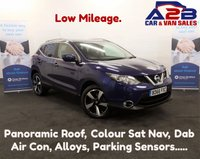 2016 NISSAN QASHQAI 1.5 N-CONNECTA (Comfort Pack)  DCI 5d 110 BHP, High Spec ....Colour Sat Nav, Air Con, Front / Rear Parking sensors, Bluetooth, Alloys, Reversing Camera, Cruise Control, and much more..... £13480.00