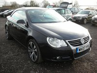 USED 2007 07 VOLKSWAGEN EOS 2.0 SPORT TDI 2d 138 BHP Fsh - Red leather - Cambelt changed