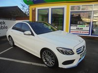 USED 2015 65 MERCEDES-BENZ C CLASS 2.1 C220 D AMG LINE PREMIUM PLUS 4d AUTO 170 BHP AMAZING SPECIFICATION....AMG STYLING...PANORAMIC SUNROOF...FULL LEATHER...MEMORY SEATS...REAR VIEW CAMERA