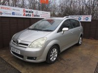 USED 2005 05 TOYOTA COROLLA 1.8 VERSO T SPIRIT VVT-I 5d 128 BHP FINANCE AVAILABLE FROM £18 PER WEEK OVER TWO YEARS - SEE FIANCE LINK FOR OPTIONS
