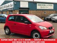 USED 2012 62 SEAT MII 1.0 S A/C 3 Door Volcano Red 59 BHP Super Seat Mii 1.0 S 3 Door..... Group 1 insurance £20 Road Tax 62.8MPG Air Con