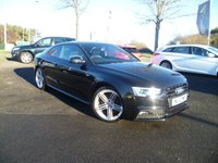USED 2012 12 AUDI A5 2.0 TDI QUATTRO S LINE BLACK EDITION 2d 175 BHP FULL SERVICE HISTORY, FULL LEATHER, HEATED SEATS, PARKING SENSORS