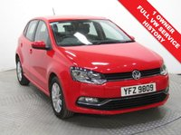 USED 2015 65 VOLKSWAGEN POLO 1.2 SE TSI DSG 5d AUTO 89 BHP 1 Owner, Full VW Service History, Full 12 months MOT, this beautiful 5 dr, Petrol, Auto VW Polo in Flash Red was first registered in November 2015 and Road fund Licence is only £20 a year. Nationwide Delivery Available. Finance Available at 9.9% APR Representative.