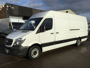 2013 MERCEDES-BENZ SPRINTER 2.1 313CDI XLWB HIGH ROOF 130BHP RARE 4.8 METERS EXTRA LONG. £10990.00