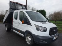 2018 FORD TRANSIT 350 EURO 6 CREW CAB ONE STOP TIPPER DRW  2.0TDCI 130 BHP £23995.00
