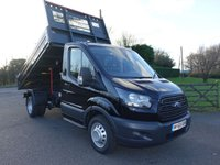 USED 2019 68 FORD TRANSIT 350 L2 MWB DRW VFS BISON TIPPER 2.0 TDCI 170PS ** Ultimate Specification Tipper** Air Con, Metallic Paint, 170 BHP Engine, 3.5t Towing Rear Axle, High Visibility Pack And Heated And Comfort Seat Pack! In Stock Now!