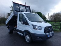 USED 2019 68 FORD TRANSIT 350 L2 MWB DRW VFS BISON TIPPER 2.0 TDCI 170PS Popular Model With Double Rear Wheels, 170 Bhp Engine, 3.5t Towing Axle, High Visibility Pack & Heated And Comfort Seat Pack!