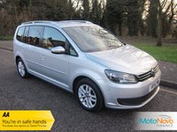 USED 2014 14 VOLKSWAGEN TOURAN 1.6 SE TDI BLUEMOTION TECHNOLOGY DSG 5d AUTO 106 BHP Fantastic Automatic Volkswagen Touran SE with Seven Seats, Air Conditioning, Alloy Wheels and Volkswagen Service History.