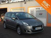 USED 2015 65 PEUGEOT 5008 1.6 BLUE HDI S/S ALLURE 5d AUTO 120 BHP 7 Seater, 3 Service Stamps, Panoramic Sunroof, Head up Display
