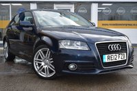 USED 2012 12 AUDI A3 1.6 TDI S LINE 3d 103 BHP COMES WITH 6 MONTHS WARRANTY