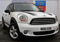 USED 2012 61 MINI COUNTRYMAN 1.6 COOPER D 5d Family SUV Stunning in White with Low Road Tax and High 64mpg 7 SERVICE STAMPS