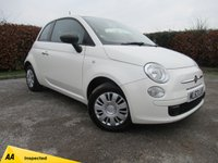 USED 2013 63 FIAT 500 1.2 POP 3d * ONE OWNER FROM NEW *LOW MILEAGE*CITY STEERING*