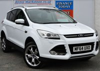 USED 2014 64 FORD KUGA 2.0 TITANIUM X TDCI 4x4 5d Family SUV Stunning in White with Chrome Alloys Heated Leather Seats 1 FORMER KEEPER