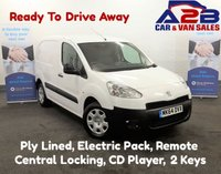 2014 PEUGEOT PARTNER 1.6, HDI, Ply Lined, CD Player, Electric Pack, 1 Sliding Door £4980.00