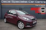 USED 2015 65 PEUGEOT 108 1.0 ACTIVE 5d 68 BHP Finished in stunning Purple with Black Cloth Upholstery. Full Peugeot Service History, 1 Owner, Bluetooth, DAB Radio, Climate Control, Multi Function Wheel, Air Con, Electric Mirrors and Windows