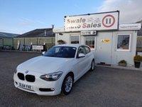 2014 BMW 1 SERIES 1.6 116D EFFICIENTDYNAMICS 3 DOOR DIESEL 114 BHP £10195.00