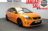 USED 2008 58 FORD FOCUS 2.5 ST-3 3 DR LEATHER SAT NAV  HEATED RECARO LEATHER SEATS + SATELLITE NAVIGATION + BLUETOOTH + PARKING SENSOR + XENON HEADLIGHTS + CLIMATE CONTROL + RADIO/CD + ELECTRIC WINDOWS + 18 INCH ALLOY WHEELS
