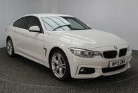 USED 2015 15 BMW 4 SERIES GRAN COUPE 2.0 420D M SPORT GRAN COUPE 4DR AUTOMATIC 181 BHP 1 OWNER FULL SERVICE HISTORY BMW SERVICE PACK FULL BMW SERVICE HISTORY + BMW SERVICE PACK 5 YEARS OR 50,000 MILES + HEATED LEATHER SEATS + SATELLITE NAVIGATION + BLUETOOTH + PARKING SENSOR + CRUISE CONTROL + CLIMATE CONTROL + XENON HEADLIGHTS + MULTI FUNCTION WHEEL + DAB RADIO + 18 INCH ALLOY WHEELS