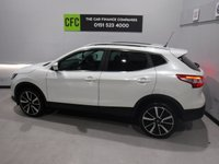 USED 2014 14 NISSAN QASHQAI 1.5 DCI TEKNA 5d 108 BHP GREAT FAMILY CAR WITH FULL SERVICE HISTORY,COMES IN GLEAMING WHITE WITH A FULL GLASS ROOF GREAT FOR THOSE RAINY DAYS,FULL BLACK HEATED LEATHER, BLUETOOTH PHONE PREP, ELEC WINDOWS ALL ROUND,SAT NAV. LEATHER CLAD MULTI  FUNCTION STEERING WHEEL CRUSE CONTROL, ELEC FOLDING MIRRORS. THE CAR FINANCE COPANIES  are Pleased to Present a Wide Range of Pre Owned Vehicles. All Of Our Cars are Fully Checked And Prepared to Meet our high standard  We have a RAC approved work shop . All of our Cars Come With a