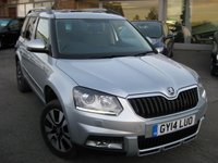 USED 2014 14 SKODA YETI 2.0 OUTDOOR LAURIN AND KLEMENT TDI CR DSG 5d AUTO 138 BHP Navigation Full Skoda service History Sunroof One owner
