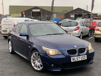 USED 2007 57 BMW 5 SERIES 2.0 520D M SPORT 4d 161 BHP *STUNNING LE MANS BLUE WITH 19'' SPIDER ALLOYS*
