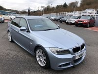 USED 2011 11 BMW 3 SERIES 2.0 320D M SPORT 4d 181 BHP Silverlake Blue, Black leather, Prof Sat Nav, 18 inch Alloys ++ With FSH