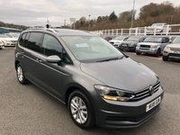 USED 2018 18 VOLKSWAGEN TOURAN 1.6 SE FAMILY TDI BLUEMOTION TECHNOLOGY DSG 5d AUTO 114 BHP DSG Automatic Diesel 7 Seater MPV with high spec inc Pro Nav & Panoramic glass sunroof