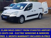 2009 CITROEN BERLINGO 3 SEAT 625LX 90 WITH ONLY 25,000 MILES AND AIR CON £4495.00