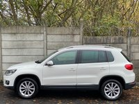 USED 2013 13 VOLKSWAGEN TIGUAN 2.0 SE TDI BLUEMOTION TECHNOLOGY 4MOTION 5d 138 BHP CRUISE CONTROL/CANDY WHITE/DIESEL