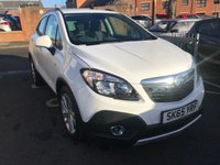 """USED 2015 65 VAUXHALL MOKKA 1.4 EXCLUSIV 5d AUTO 138 BHP ONLY 8557 MILES FROM NEW AND TWO MAIN DEALER SERVICE STAMPS, CHEAP TO RUN, LOW CO2 EMISSIONS(149G/KM) EXCELLENT FUEL ECONOMY! GOOD SPECIFICATION INCLUDING PARKING SENSORS, CLIMATE CONTROL AND 18"""" INCH ALLOY WHEELS."""