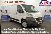 2013 CITROEN RELAY 2.2, ENTERPRISE, HDI, 110 BHP ++NO VAT TO PAY++ Air Conditioning, Bluetooth, Ply Lined, Electric Pack, USB £5980.00