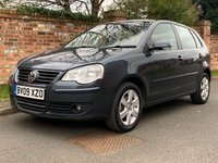USED 2009 09 VOLKSWAGEN POLO 1.4 MATCH TDI 5d 68 BHP SUPERB SERVICE HISTORY, MOT JAN 20, FULLY PREPARED, EXCELLENT CONDITION,  AIR CON, E/WINDOWS, R/LOCKING, FREE  WARRANTY, FINANCE AVAILABLE, HPI CLEAR, PART EXCHANGE WELCOME,