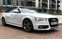 2013 AUDI A4 2.0 TDI S LINE BLACK EDITION START/STOP 4d AUTO 148 BHP £SOLD