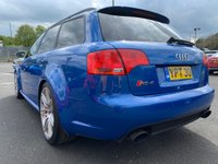 USED 2007 57 AUDI RS4 AVANT 4.2 RS4 QUATTRO 5d 420 BHP SPRINT BLUE, FULL SERVICE HISTORY, RECARO BUCKET SEATS, FULL LEATHER, BLACK OPTICS, CRUISE CONTROL, BLUETOOTH, SAT NAV