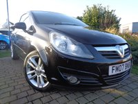 USED 2007 07 VAUXHALL CORSA 1.4 SXI A/C 16V 3d 90 BHP **Low Mileage Vauxhall Service History Exterior Pack 12 Months Mot**