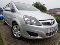 USED 2011 11 VAUXHALL ZAFIRA 1.6 EXCLUSIV 5d 113 BHP **1 Former Keeper 7 Seats Full Service History 7 Stamps 12 Months Mot**