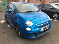 USED 2014 64 FIAT 500 1.2 S 3d 69 BHP ONLY 12519 MILES FROM NEW, GREAT SPECIFICATION WITH AIR CONDITIONING, (TFT SCREEN DISPLAY) ABARTH DIGITAL DISPLAY, HALF LEATHER INTERIOR, ALLOY WHEELS, MEDIA CONNECTIVITY , BLUETOOTH AND  AUXILLIARY INPUT, CHEAP TO RUN , LOW CO2 EMISSIONS, £30 ROAD TAX AND START/STOP. ONLY 12519 MILES!