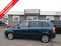 USED 2007 07 VAUXHALL ZAFIRA 1.8 DESIGN 16V 5DR  7 SEATER 140 BHP