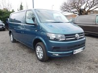 USED 2018 18 VOLKSWAGEN TRANSPORTER T30 TDI HIGHLINE LWB 150 BLUEMOTION EURO 6 Sat Nav (Discovery Media), Power Latch to side Door, with Heated Rear Screen and Rear Wash Wipe, Captain Seats, Cab Carpet.