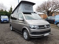 USED 2018 18 VOLKSWAGEN TRANSPORTER T28 TDI  STARTLINE 102 BLUEMOTION EURO 6  Optional Extras Include: Air Con, Cruise Control, Power Latch to Side Sliding Door. Features include: 4 berth c/w  4 belted seats, Captains seats c/w armrest and walk through area,Dometic Fridge,Dometic Grill, 2 Burner hob and sink, Diesel heater, Interior lighting, Heated rear window and Wash Wipe, Dometic wind out awning housed in a black casing, Curtains, Storage cupboards.